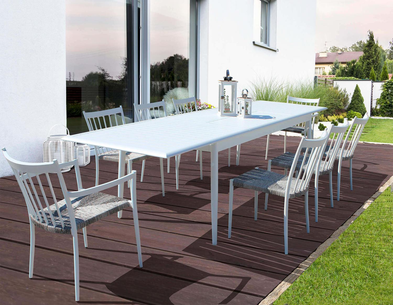 Tavolo da giardino in alluminio allungabile POMPEI MINI ...