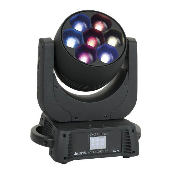 Infinity - IW-740 RDM Wash RGBW, Zoom elettronico