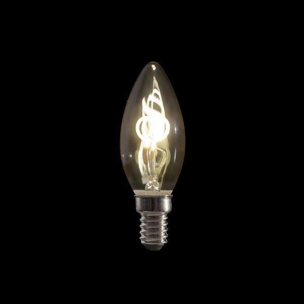 SHOWTEC - LED FILAMENT CANDLE BULB B10 Filamento a spirale