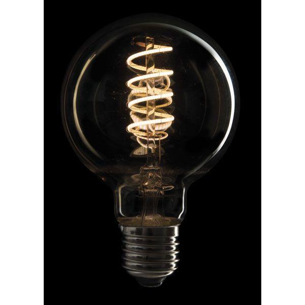 SHOWTEC - LED FILAMENT BULB E27 5W, Dimmerabile, Vetro dorato