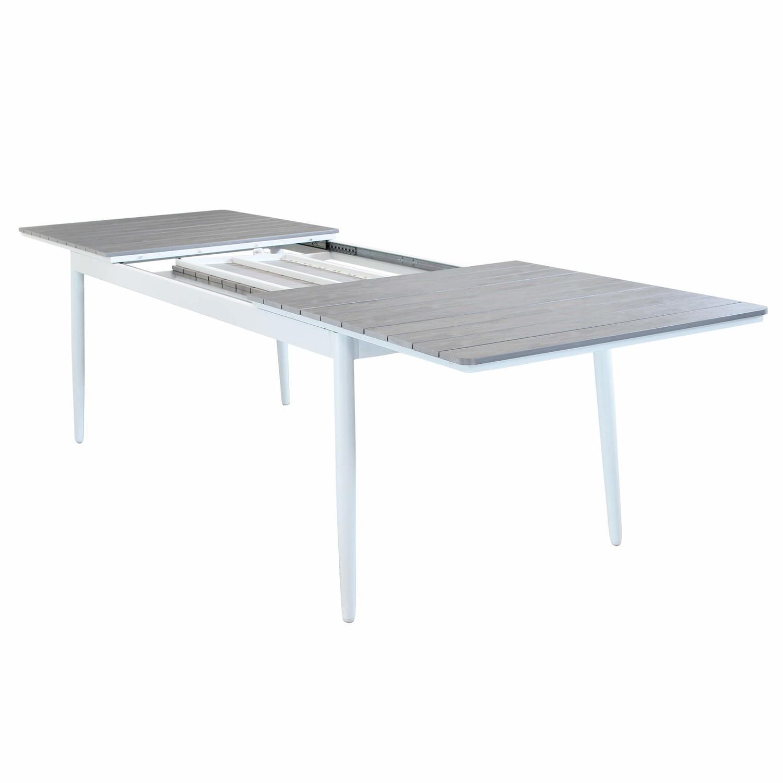 Tavolo da giardino in alluminio BIBBIONE BIANCO 200 / 300 ...