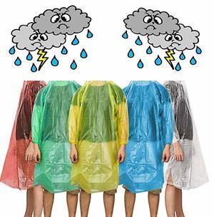 5x Poncho Impermeabile per Adulti USA E Getta Cappotto di Pioggia Unisex Impermeabili