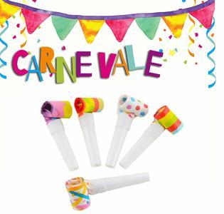 Lingue MENELICCHE Party 6 Pz. Festa Animazione Giochi Divertimento Carnevale