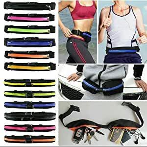 2X Marsupio Fitness Borsa Elastica per Smartphone Multifunzione Sport Cintura