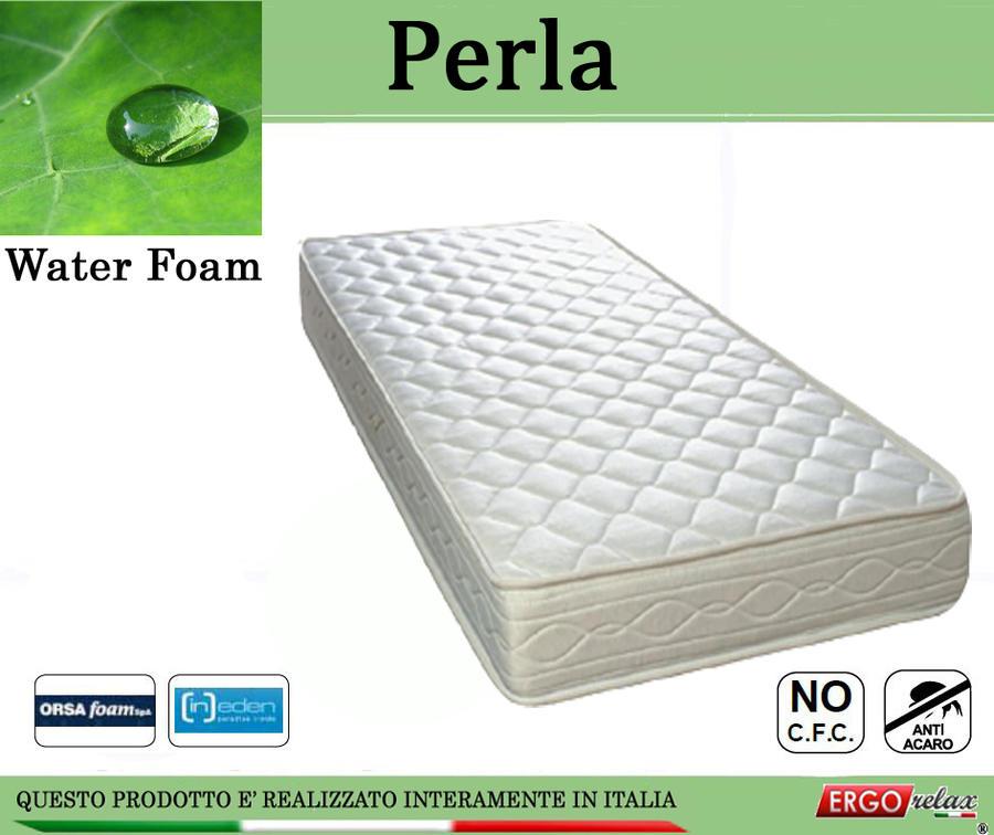 Materasso Espanso Mod. Perla Singolo da Cm. 80x190/195/200 Water Foam No CFC - Ergorelax