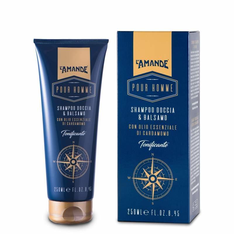 Shampoo Doccia & Balsamo Pour Homme L'Amande