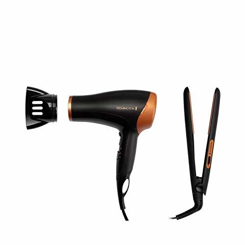 REMINGTON phon + piastra in ceramica 2000W HAIRCARE GIFT D3012GP