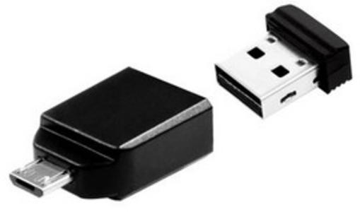 MEMORIA USB2.0 32GB STORE 'N' STAY NANO + OTG MICRO USB ADAPTER