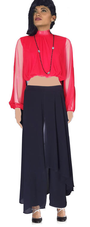 Copia di  PANTS JERSEY DUBBED WITH PANELS TULLE BIG SIZE LXL 1-0015
