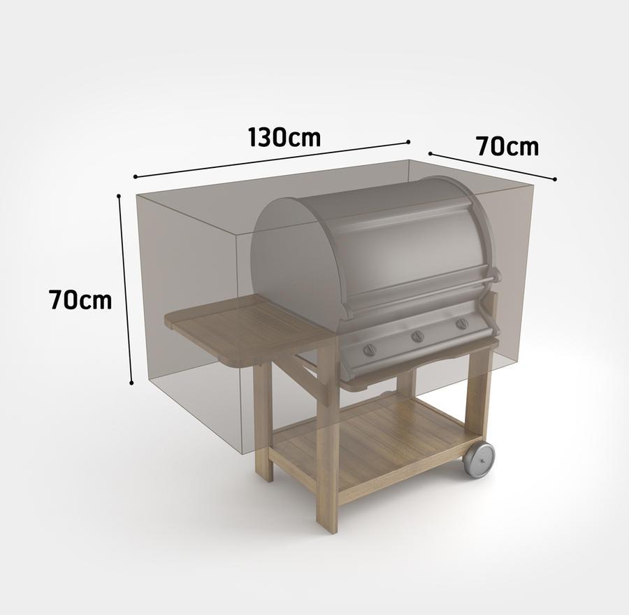 Copertura Barbecue Rettangolare 0,70 x 1,30 x 0,70 m