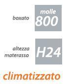 Materasso Molle Insacchettate Mod. Confort  da Cm 105x190/195/200 Sfoderabile Altezza Cm. 24  - Ergorelax