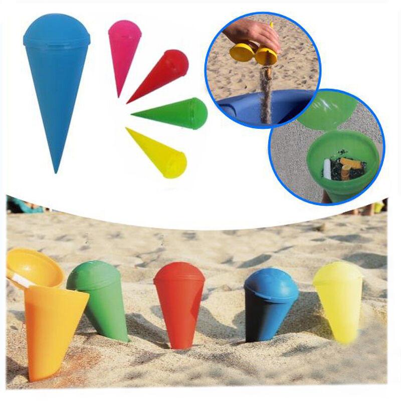 Posacenere da spiaggia conico tascabile portacenere viaggio spiaggia cenere