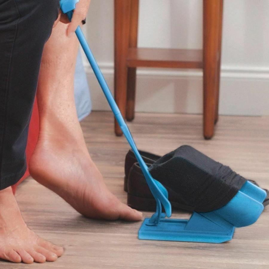 AUSILIO INFILA TOGLI CALZINI CALZE CALZASCARPE ANZIANI DONNE INCINTE