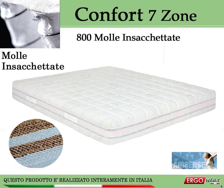 Materasso Molle Insacchettate Mod. Confort Matrimoniale da Cm 165x190/195/200 Sfoderabile Altezza Cm. 24 - Ergorelax