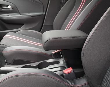 Bracciolo regolabile con portaoggetti per Opel Corsa F (2019>)