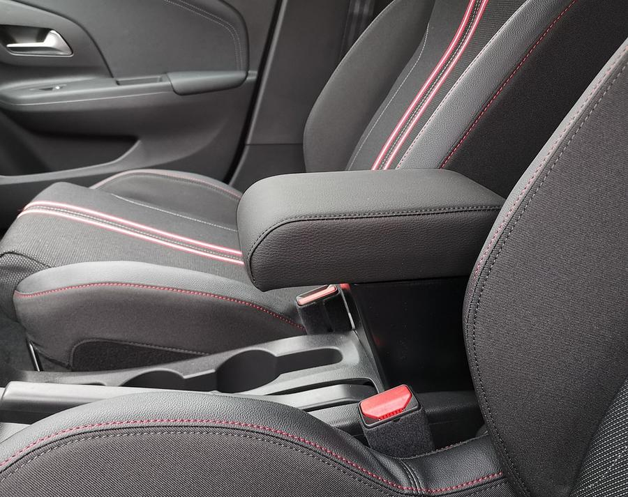 Adjustable armrest with storage for Opel Corsa F (2019>)