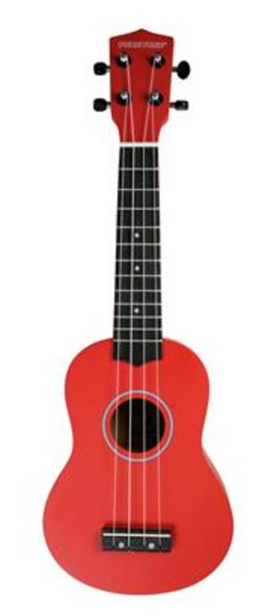 Pure Tone Soprano Ukulele Red Pack KUS15