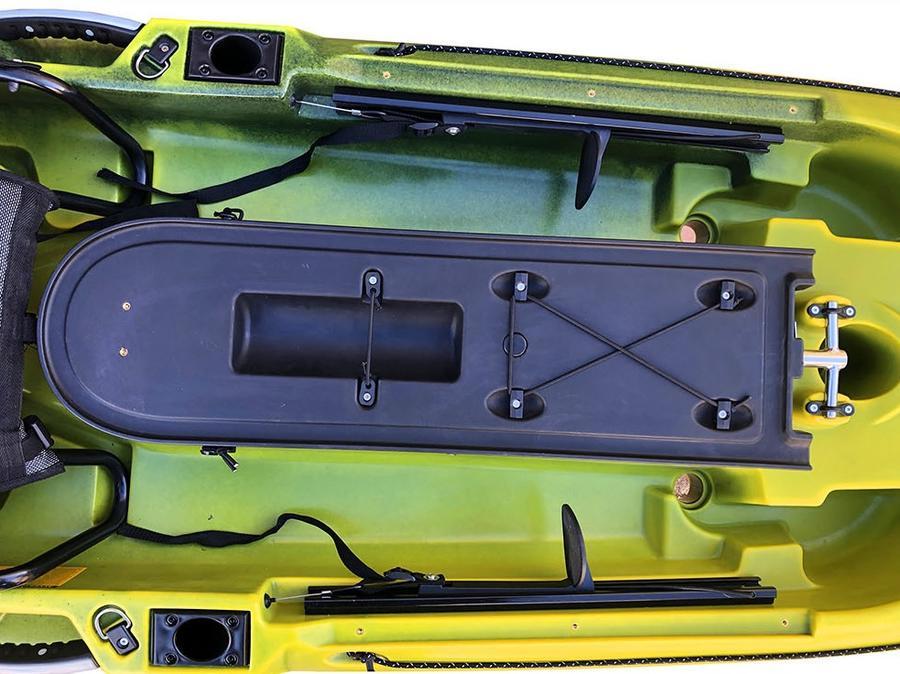 Progressor 430 Fishing Big Mama Kayak con 6 portacanne + timone + pagaia + seggiolino