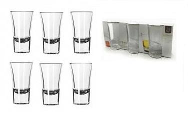 Set 6 Bicchierini In Vetro Shot liquore caffè Grappa Amaro Limoncello 6CL