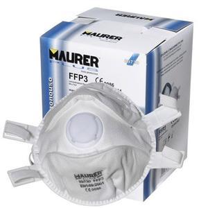Mascherina di protezione con valvola Classe FFP3 1 confezione da 5Pz anti coronavirus antivirus