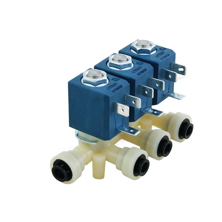 Elettrovalvola per erogatori d'acqua 3 vie 220 volts Cem.
