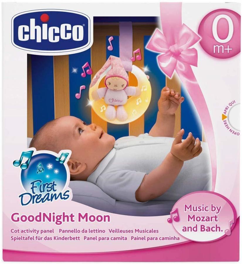 Luna luce e melodie soffuse da lettino per Bimbo - Chicco 57891 - 0+ mesi Rosa