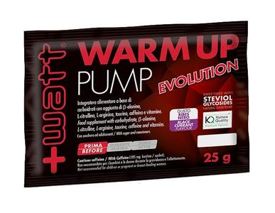 WARM UP PUMP EVOLUTION - gusto ribes nero in bustine da 25 g.