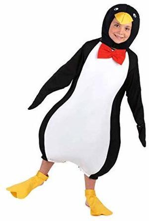 Costume di Carnevale da Pinguino 2/4 Anni Travestimento Unisex Bimbo Bimba TAGLIA M