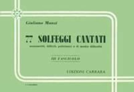Giuliano Manzi - 77 Solfeggi Cantati Manoscritti Vol. 3