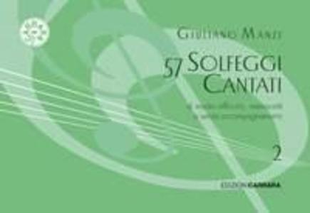 Giuliano Manzi - 57 Solfeggi Cantati Manoscritti Vol. 2