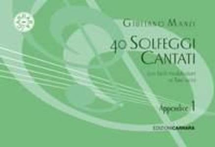 Giuliano Manzi - 40 Solfeggi Appendice Al Primo Corso