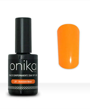 Smalto Semipermanente N.28 - Arancione Neon 15 ml