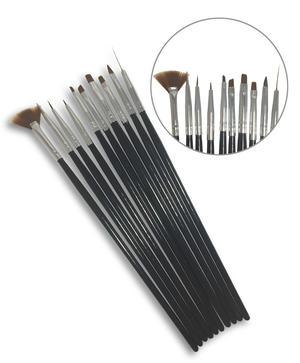 Set di 10 pennelli per Nail Art e Micropittura