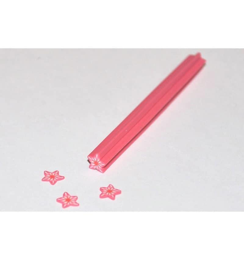 Bastoncino fimo - 14 - Stella alpina rosa