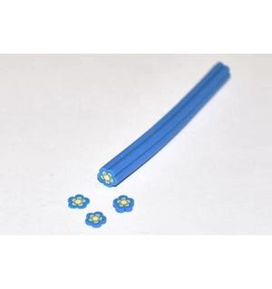 Bastoncino fimo - 16 - Fiore blu