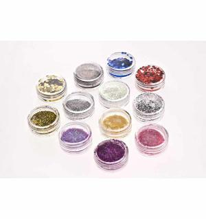Glitter powder 12 barattoli MOD.1- Nail Art