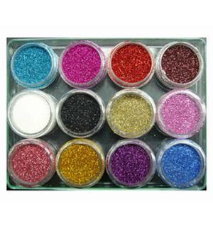 Glitter powder 12 barattoli MOD.2- Nail Art