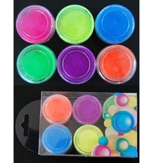 Glitter powder 6 barattoli MOD.4 - Nail Art