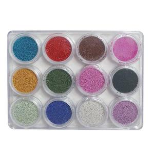 Glitter perline 12 barattoli MOD.8- Nail Art