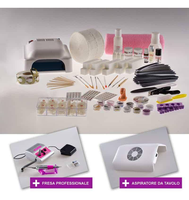 Kit Super con Gel + Fresa Professionale e Aspiratore - Ricostruzione unghie