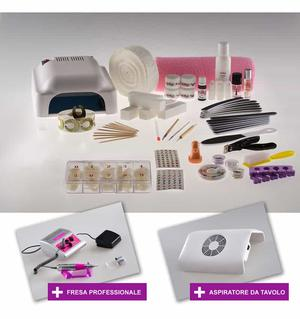 Kit Medium con Gel + Fresa Professionale e Aspiratore - Ricostruzione unghie