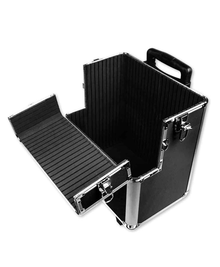 Trolley in alluminio nero