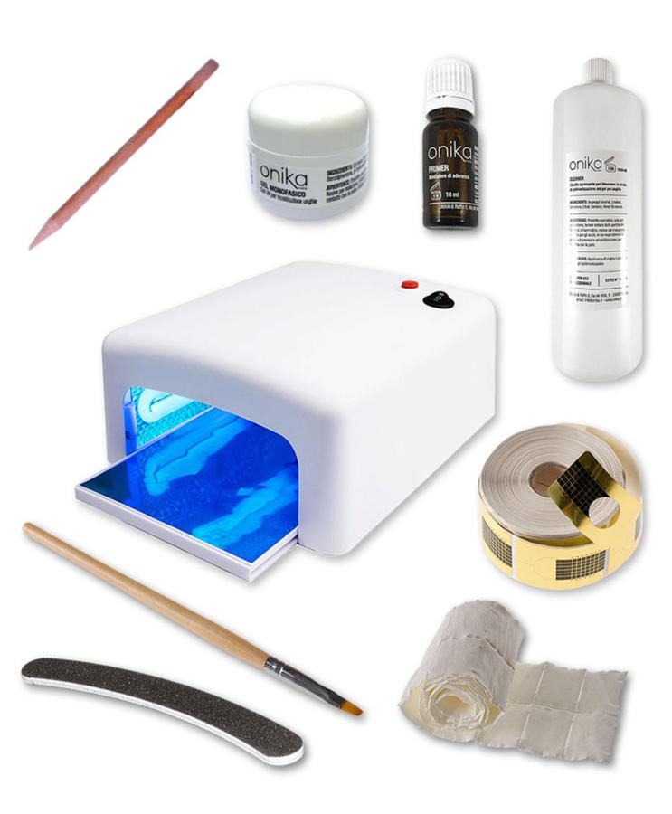 Kit Essential gel Monofasico + Lampada UV 36 watt + Manuale illustrato in PDF