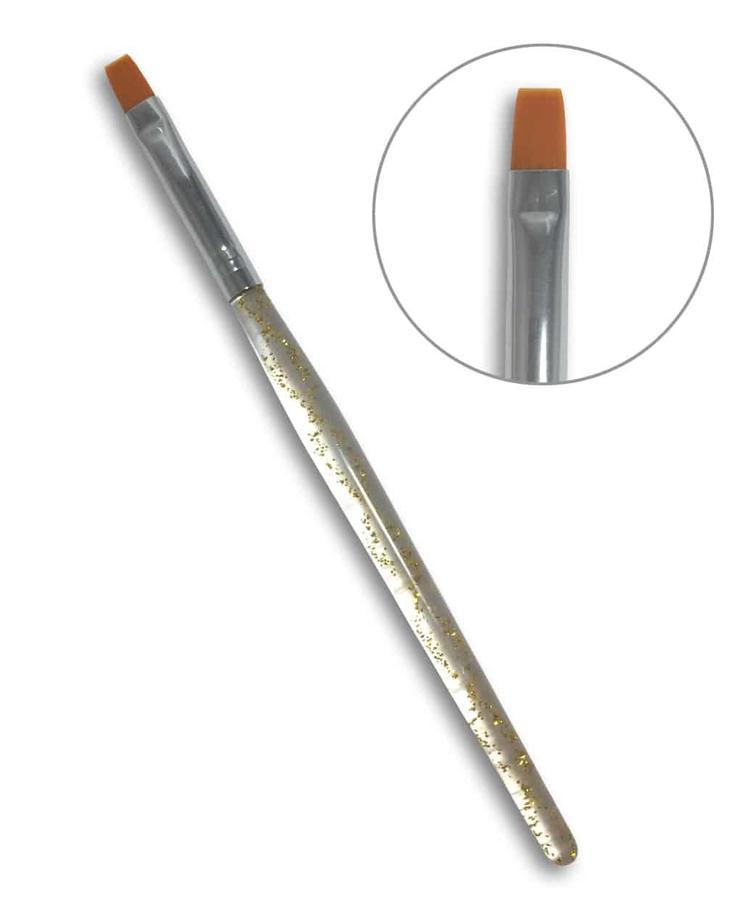 Pennello punta piatta N.4 - Manico a Spirale