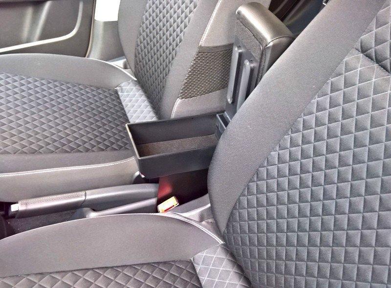Bracciolo regolabile con portaoggetti per Seat Mii