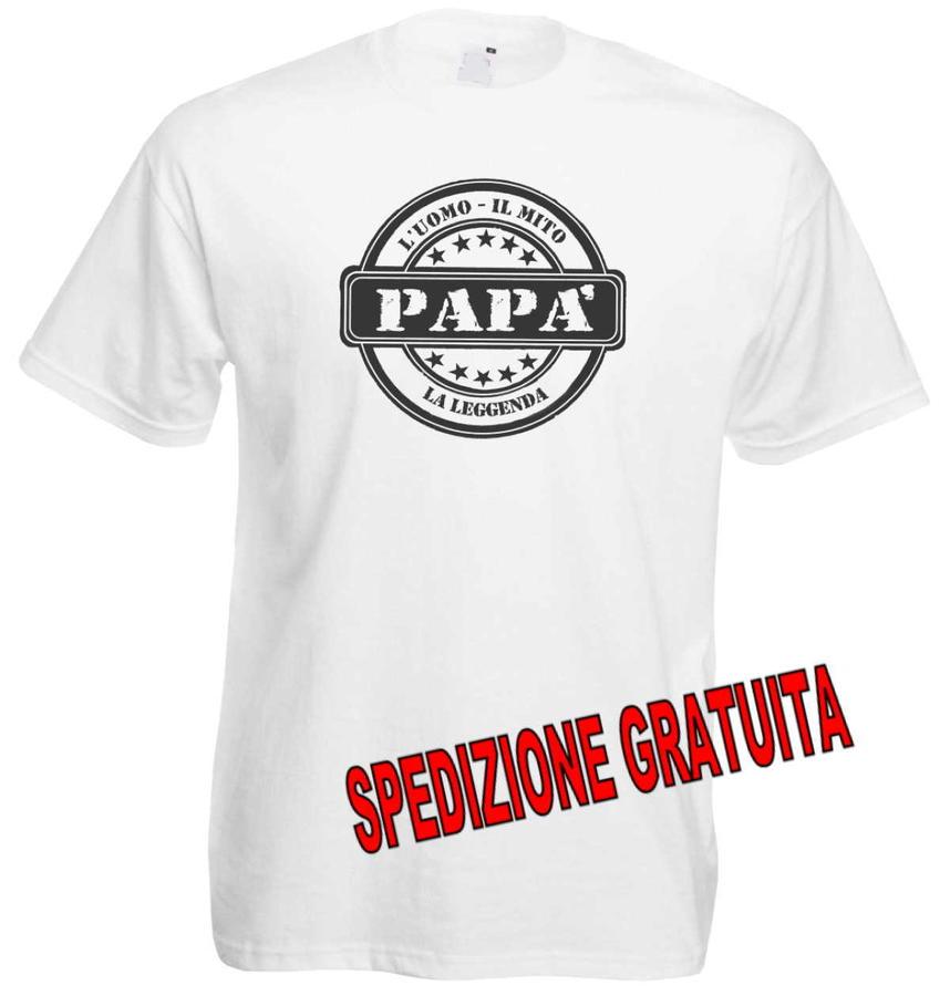 T-Shirt Festa del papà, L'uomo, Il Mito,  La Leggenda, Maglietta Uomo
