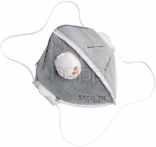 Mascherina di protezione pieghevole con valvole classe FFP2