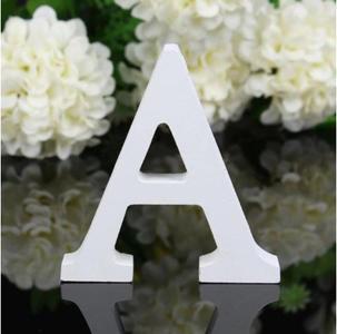 """LETTERA """"A"""" IN LEGNO BIANCO 12CM ALFABETO MATRIMONI COMPLEANNI DECORAZIONI FESTA"""