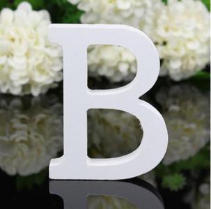 """LETTERA """"B"""" IN LEGNO BIANCO 12CM ALFABETO MATRIMONI COMPLEANNI DECORAZIONI FESTA"""