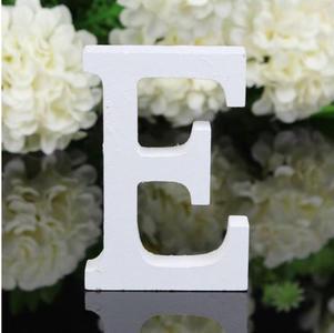 """LETTERA """"E"""" IN LEGNO BIANCO 12CM ALFABETO MATRIMONI COMPLEANNI DECORAZIONI FESTA"""